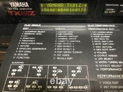 2SET! YAMAHA Wind Synth WX-7 / Midi sound source TX81Z Tested From Japan