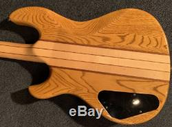 Aria Pro II Thor Sound SB-650 Natural Electric Base Guitar Shipped from Japan