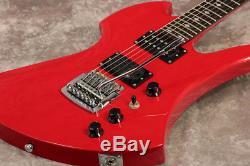 B. C. Rich NJ Retro MOCKING BIRD Ferrari Red Electric Guitar used from japan sound