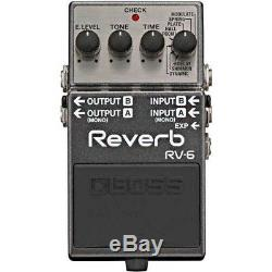 BOSS RV-6 High quality sound 8 modes Reverb Pedal From Japan with Tracking