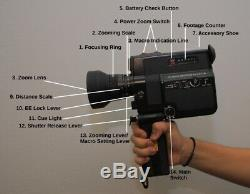 Canon sound Super 8 CANON 514XL-S 8mm Movie Film Camera From Japan 557