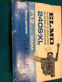 ELMO SUPER 8 SOUND 240S-XL 8mm Movie Camera NEAR MINT From JAPAN #306