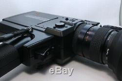 ELMO Super 8 Sound 612S-XL AF 8mm Movie Camera in Case From Japan AS-IS