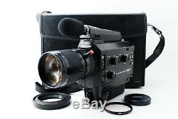 Exc+5 Elmo Super 8 Sound 1012S XL Macro with Zoom Lens 7.5 75mm f1.2 From JAPAN