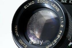 Exc+5 Elmo Super 8 Sound 350SL Macro Zoom 8mm 9-27mm F/1.2 Lens from Japan