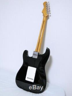 FERNANDES THE REVIVAL'57 Stratocaster Black Superb vintage sound From JAPAN