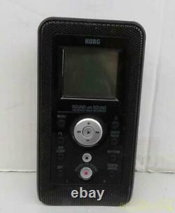 KORG SR-1 Handy Recorder SOUND Multiple Recording Black Excellent from Japan