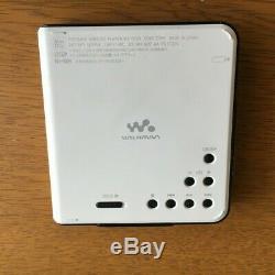 MINT Sony MZ-630 Walkman MiniDisc Player white Sounds Great From Japan #627