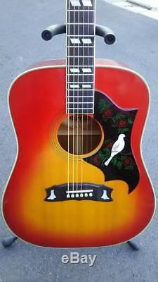 MORRIS WD-30 Acoustic Guitar 1977 sound Excellent+++ condition Used from japan