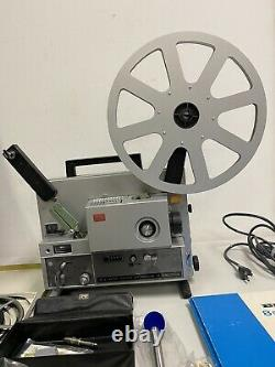 Mint in Case Elmo ST-1200HD Super 8 Sound Film Projector 2 Track From Japan