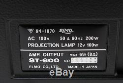 NEAR MINT in BOX Elmo ST-600 2-Track 8mm Sound Projector Super 8 from JAPAN