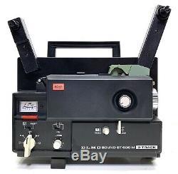 NEW BELTS & BULBVtg Elmo ST-600 2-Track 8mm Sound Projector Super 8 from JAPAN