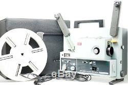 NMint ELMO ST-1200 Super 8 8mm Sound Movie Projector with Case From Japan 566