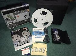 Near Mint In Case Elmo ST-1200HD Super 8 Sound Film Projector 2 Track From Japan