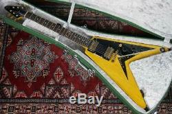 New Crews Maniac Sound Vintage Line/V-KING/Korina/NAT Electric Guitar From Japan