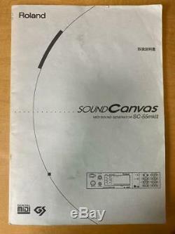 Roland SC-55mkII 55mk2 Sound Module power 100-240V From Japan