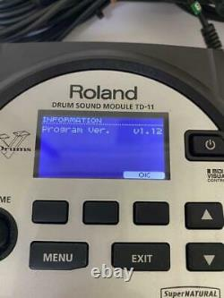 Roland TD-11 Drum Sound Module Percussion Drums Electronic Drums from japan