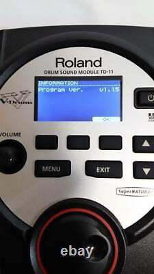 Roland TD-11 Drum Sound Module V-Drum withPower cable Mount from Japan USED B