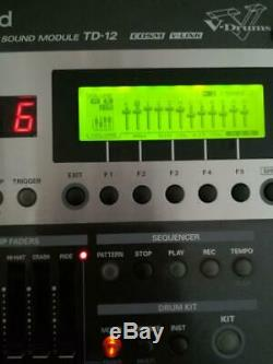 Roland TD-12 Sound V-Drum Electronic Module withCable & Manual from Japan USED