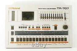 Roland TR-707 DRUM MACHINE Drum Sound Source From Japan Very good