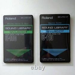 Roland U-110 SOUND LIBRARY 2 pcs SET SN-U110-04 SN-U110-07 From Japan