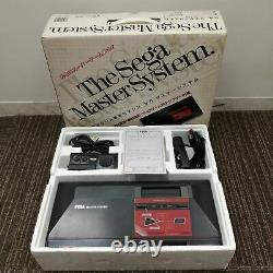 SEGA MASTER SYSTEM Console System FM Sound MK-2000 From JAPAN Tested