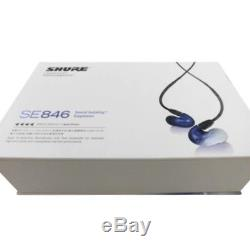 SHURE Sound Isolating Earphones SE846 BLU-A Blue from Japan New