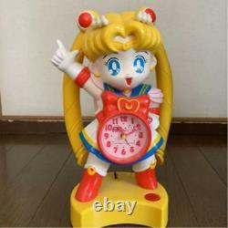 Sailor Moon Alarm Clock toy sounding 28.0cm 11.0 Superb condition from Japan