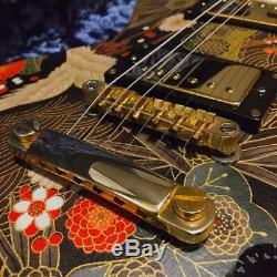Sogo Les Paul Japanese pattern Beautiful Gold Good Sounding By Fedex From Japan