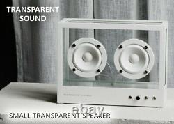 TRANSPARENT SOUND SMALL SPEAKER White Fashionable cool From Japan