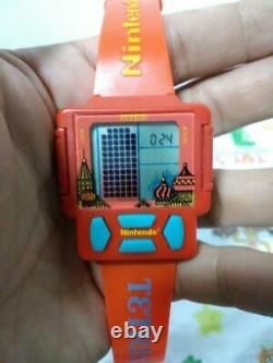 Tetris Watch Rare Nintendo Clock Game Watch No sound Excellent Used From Japan 2