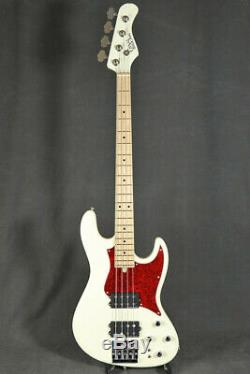 Used Crews Maniac Sound Uncle DHB Vintage White Electric Bass Guitar From Japan