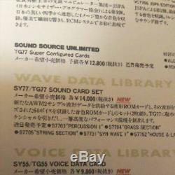 Used SY77 TG77 YAMAHA Sound Card SAX1 S7701 Sound Module F/S from Japan