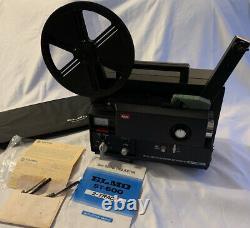 Vintage ELMO 8mm Sound Projector ST-600 M (2-track) Made In Japan All Original