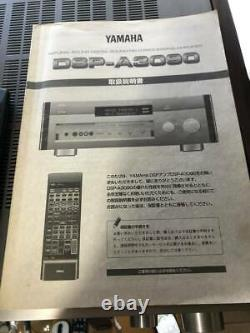 Yamaha Dsp-A3090 Av Amplifier Powerful Sound Dsp With Remote, Manual from Japan